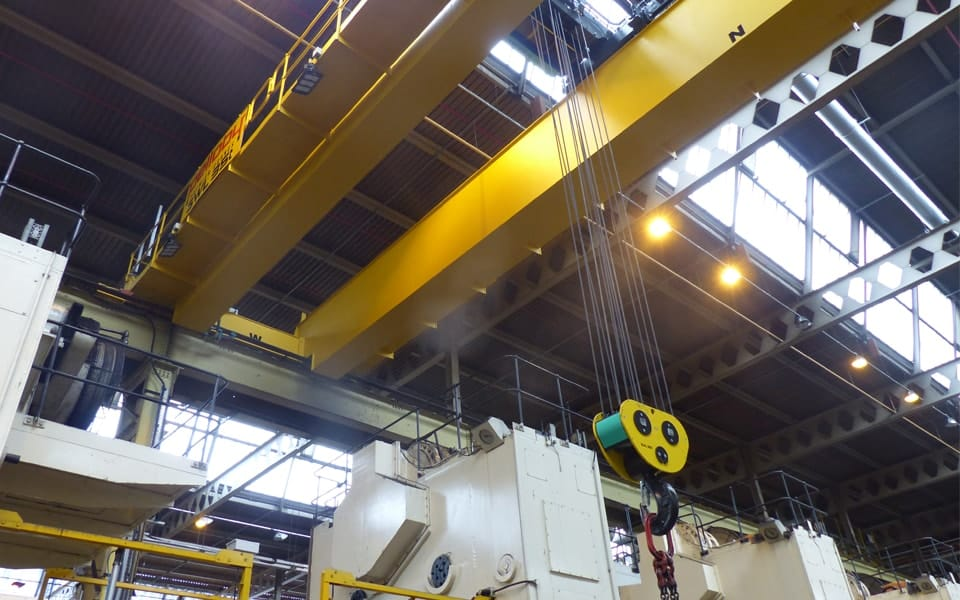 Double Girder Crane With Hoist Hook