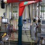 Fermentation Laboratory Orders 50kg Knuckle Jib Crane