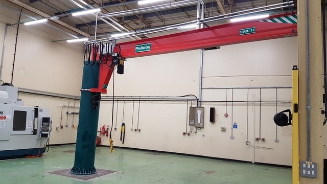 Power Slew Jib Crane With Top Connected Power Supply