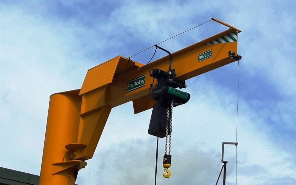 Five Tonne Jib Crane With Electric Chain Hoist
