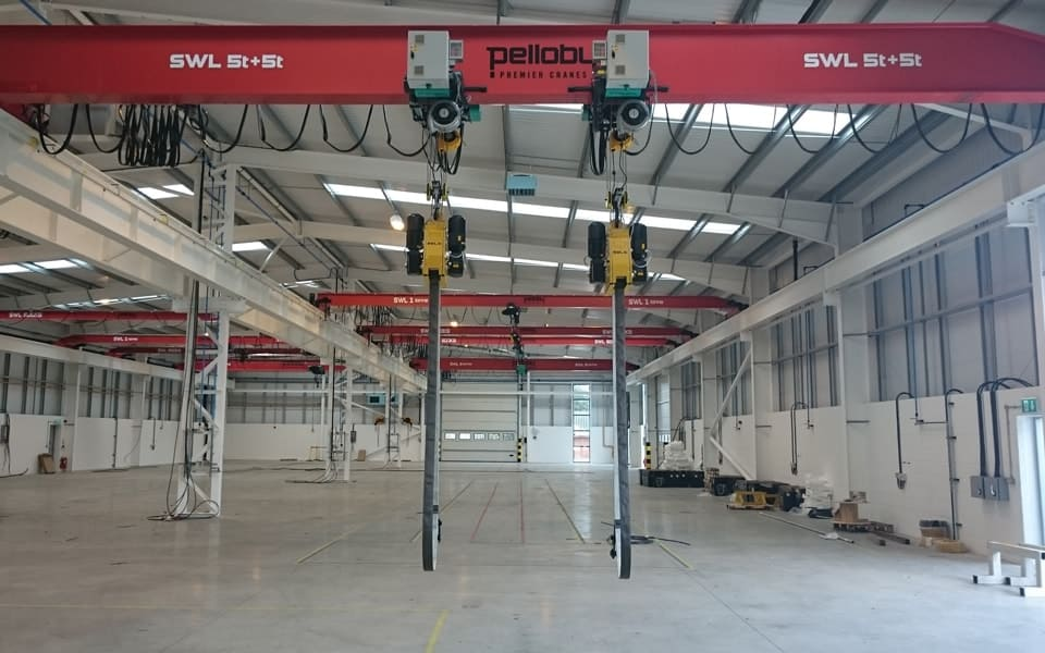 Load Turning Units On Overhead Crane