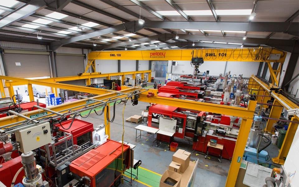 Overhead Crane on Freestanding Gantry Steelwork
