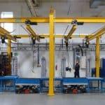 Pelloby produce four underslung manual cranes for Busch