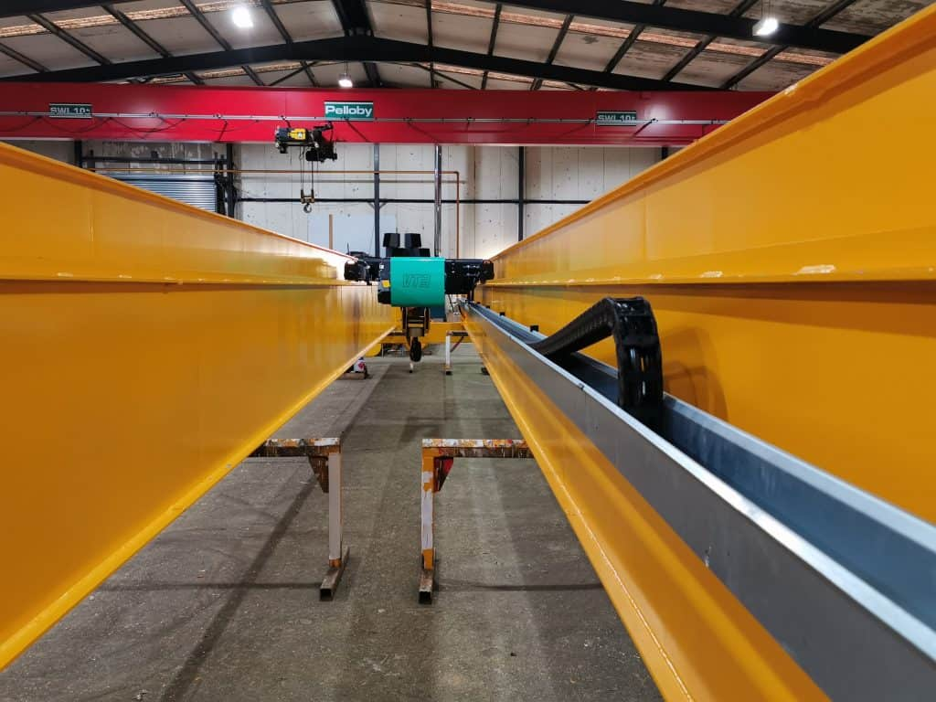 Two 12.5 Tonne Low Headroom Double Girder Cranes